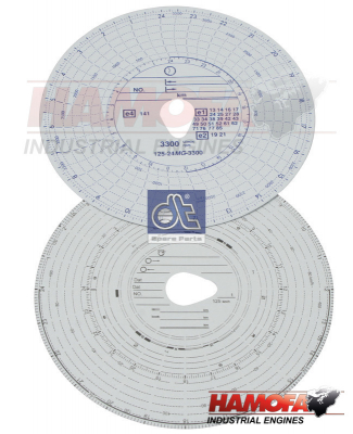 DAF TACHOGRAPH DISC SET 1321444 NEW