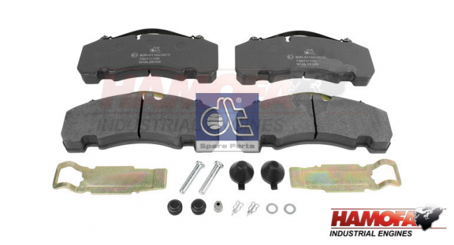 BPW DISC BRAKE PAD KIT 05.092.90.07.0 NEW