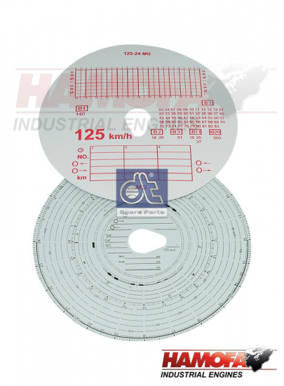DAF TACHOGRAPH DISC SET 69877 NEW